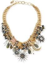 Sequin Celestial Crystal Statement Necklace