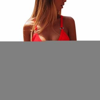 Kalorywee Swimwear Womens Bikini Sets Push Up Swimwear Two Piece Padded Swimsuits Swimming Bathing Suits Red