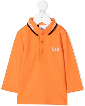 Boss Kidswear Long Sleeved Polo Shirt