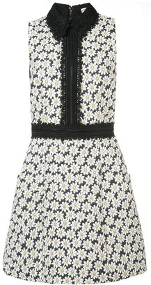 Alice + Olivia Ellis embroidered floral dress