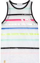 Monreal London Performance Airstream Striped Mesh Top - White