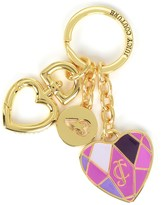Juicy Couture Outlet - MASH UP ENAMEL HEART KEY FOB