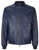 BOSS Tonal Leather Bomber Jacket
