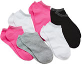 JCPenney Total Girl 6-pk. Metallic-Accent No-Show Socks - Girls