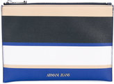 Armani Jeans striped wallet