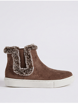 M&S Collection Fur Trim Ankle Boots
