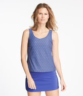 L.L. Bean BeanSport Scoopneck Tankini Top, Medallion Print
