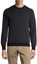 Gant Diagonal Check Cotton Sweater
