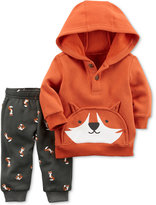 Carter's 2-Pc. Henley Fox Hoodie & Printed Jogger Pants, Baby Boys (0-24 months)