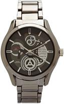 U.S. Polo Assn. Men's Gun Metal Skeleton Dial Watch