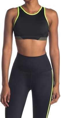 Wear It To Heart Triple Threat Mesh Panel High Neck Sports Bra