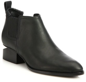 Alexander Wang Kori Rhodium & Leather Chelsea Boots