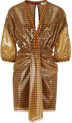 Fendi Sequin Vichy Short Dress
