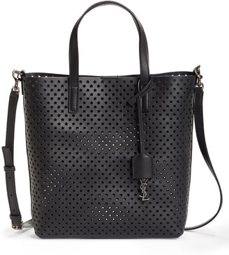 Saint Laurent Toy North/South Star Perforated Leather Tote