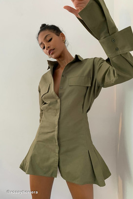 Lioness Button-Down Shirt Dress
