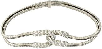 Saint Laurent Silver Metal Belts