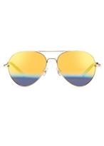 Matthew Williamson Yellow Gold Sunrise Aviator Sunglasses