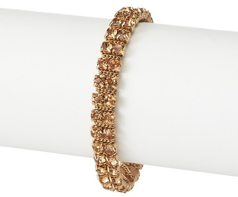 LOFT Small Chain Wrapped Rhinestone Bracelet