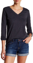 Genetic Los Angeles Jessi V-Neck Long Sleeve Black Tee