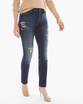 Chico's Destructed Animal-Print Jeggings