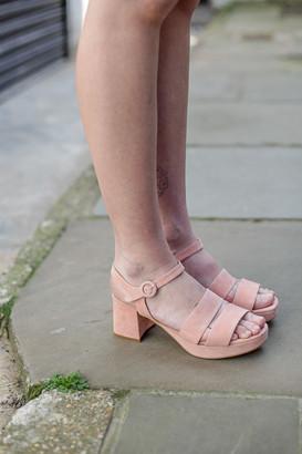Portamento - Pink Platform Sandals - 36 - Pink