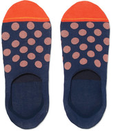Paul Smith Polka-dot Mercerised Cotton-blend No-show Socks