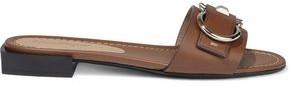 Salvatore Ferragamo Solar Embellished Leather Slides