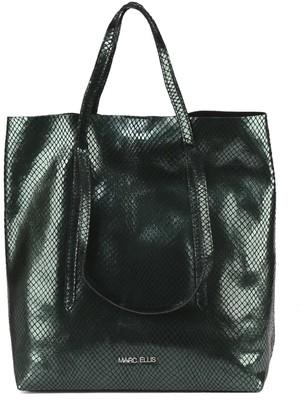 Marc Ellis Black Sevika Bag In Pythoned Leather