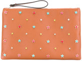 RED Valentino star embellished clutch - women - Leather/Metal (Other) - One Size