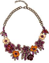 Eye Candy La Eye Candy LA Women's Necklaces Multi - Fuchsia & Goldtone Floral Amy Statement Necklace