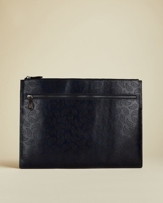 Ted Baker Leather Paisley Document Holder