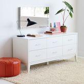 west elm Narrow-Leg 6-Drawer Dresser - White