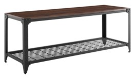 "Walker Edison 48"" Industrial Angle Iron Entry Bench"
