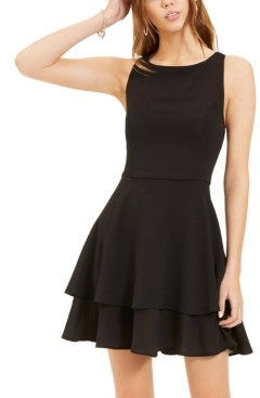 B. Darlin Juniors' Double-Hem A-Line Dress