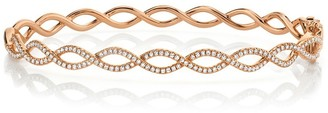 Ron Hami 14K Rose Gold Pave Diamond Intertwined Bangle Bracelet - 0.46 ctw