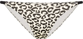 Solid & Striped Morgan triangle leopard print bikini bottoms