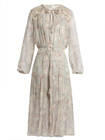 Zimmermann Stranded long-sleeved silk midi dress