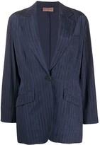 Romeo Gigli Pre Owned 1990s slim-fit pinstriped blazer