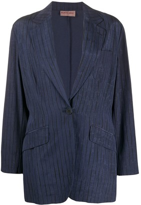 Romeo Gigli Pre-Owned 1990s Slim-Fit Pinstriped Blazer