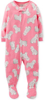 Carter's Baby Girls' Dog Footed Coverall Pajamas
