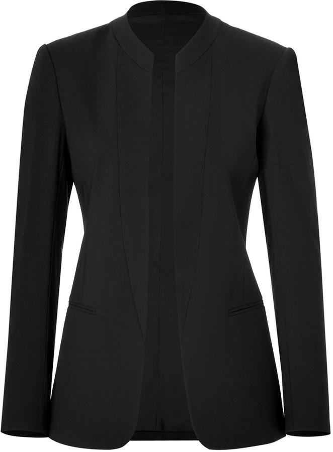 Theory Stretch Wool Tamler Blazer in Black