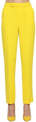 Ralph Lauren Collection Cropped Straight Leg Crepe Cady Pants