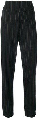 Romeo Gigli Pre Owned 1990's Pinstripe High-Rise Trousers