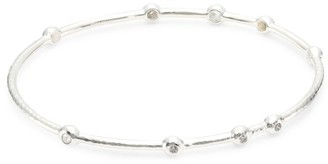 Ippolita Stardust Sterling Silver & Diamond 9-Stone Bangle Bracelet