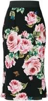 Dolce & Gabbana rose print skirt