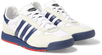 adidas Sl 80 Leather-Trimmed Faux Suede And Shell Sneakers