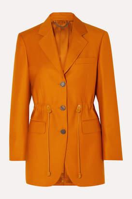 Salvatore Ferragamo Wool And Silk-blend Blazer - Orange