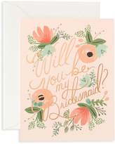 Rifle Paper Co. Blushing Bridesmaid Greeting Card/Set of 8