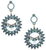 Azaara Women's Blue Topaz, Blue Quartz and Sterling Silver Drop Earrings