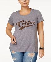 Sub Urban Riot Trendy Plus Size Coffee Graphic T-Shirt